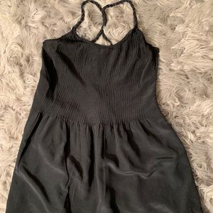 Banana Republic Black Silk Mini Dress Size 10P